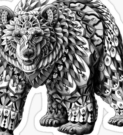 Ornate Bear Sticker
