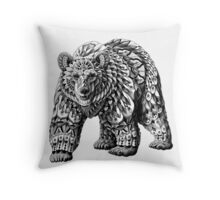 Ornate Bear Throw Pillow