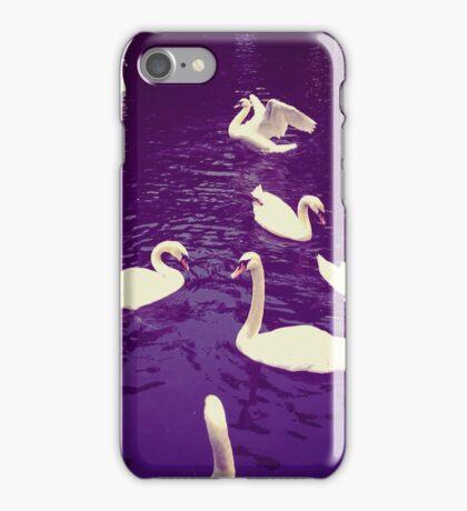 Indigo water swans iPhone Case/Skin