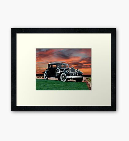 1931 Packard 845 Deluxe Eight Sports Sedan II Framed Print