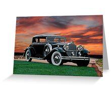 1931 Packard 845 Deluxe Eight Sports Sedan II Greeting Card