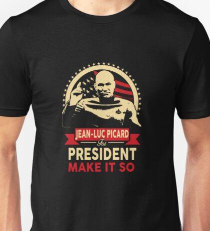 Jean-Luc for President Unisex T-Shirt