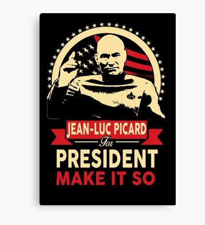 Jean-Luc for President Canvas Print