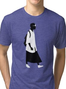 100 Days. Guy in skirt. Tri-blend T-Shirt