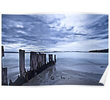 Cloudy Sunrise at Lauderdale Poster