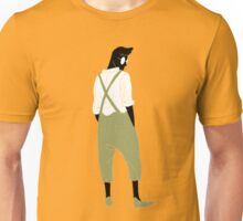 100 Days. Guy in green overalls. Unisex T-Shirt