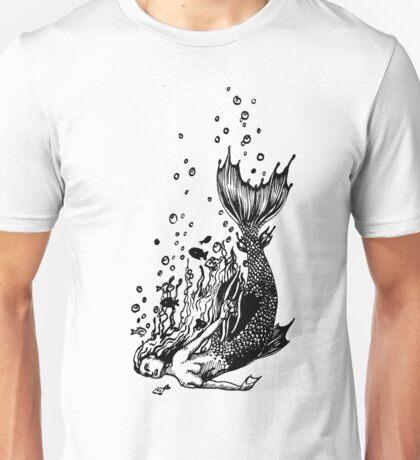 Falling mermaid: Monocrome Unisex T-Shirt