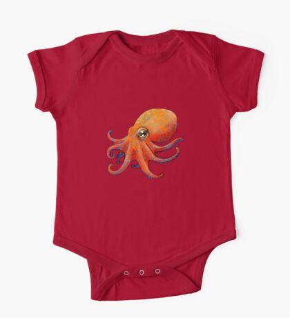 Octopus! - Orange One Piece - Short Sleeve