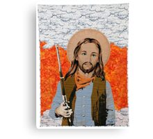 JESUS GET YOUR GUN Canvas Print