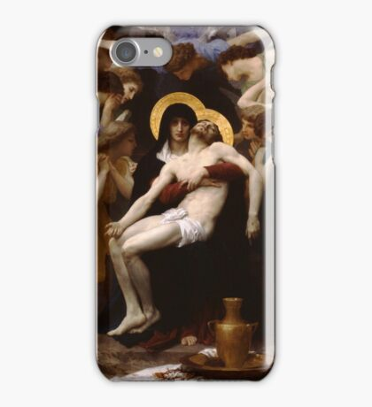 pieta ( william adolphe bouguereau ) iPhone Case/Skin