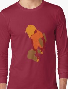 100 Days. Guy top view foreshortened. Long Sleeve T-Shirt