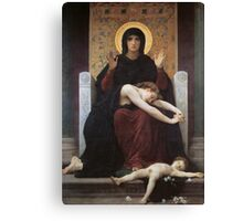 virgin mary ( william adolphe bouguereau ) Canvas Print