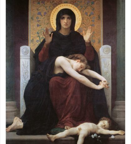 virgin mary ( william adolphe bouguereau ) Sticker