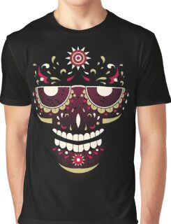 Skull Smiling Face Graphic T-Shirt