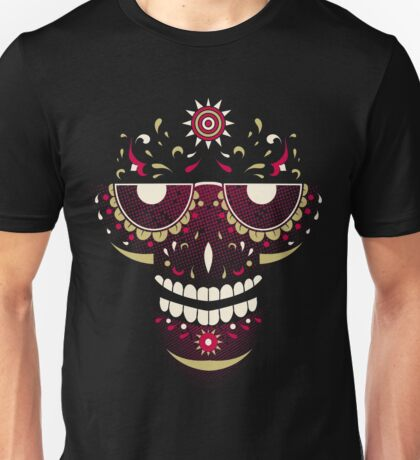 Skull Smiling Face Unisex T-Shirt