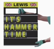 Lewis Hamilton - It's hammer time pit board message by ApexFibers