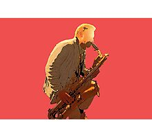 Sax player Photographic Print