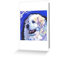 Great Pyrenees Mountain Dog Bright colorful pop dog art Greeting Card