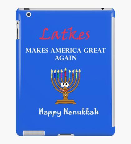 Latkes Makes America Great Again - Happy Hanukkah  iPad Case/Skin