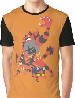 Litten Evolution Graphic T-Shirt