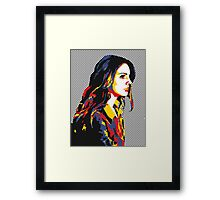 Pop Art Lana Del Rey Framed Print