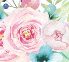 Floral watercoloe bouquet pink blue Sticker