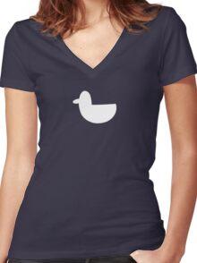White Duck Women's Fitted V-Neck T-Shirt