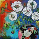 Asian Vase With Flowers by Maria Pace-Wynters