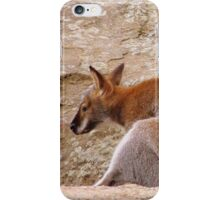 Leaning Wallaby iPhone Case/Skin