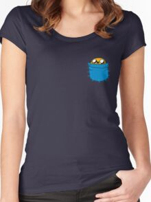 Adventure Time - Jake Women's Fitted Scoop T-Shirt