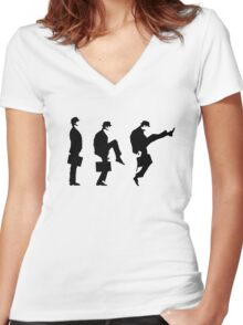 Monty Python Ministry Of Silly Walks Women's Fitted V-Neck T-Shirt