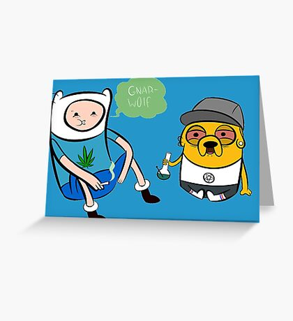 Adventure Time - Finn and Jake high Greeting Card