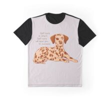 """Self-Care is Smart"" Dalmatian Pup Graphic T-Shirt"