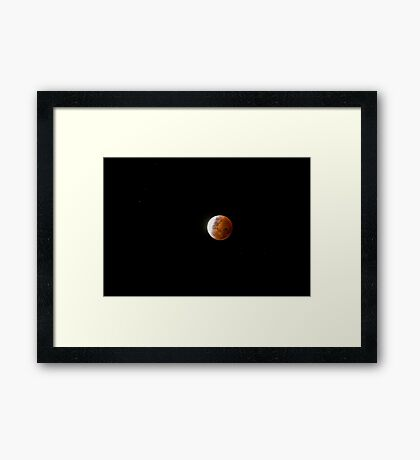 Blood Moon Travelling Alone Framed Print
