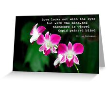 Orchids in Watercolour Quotation Greeting Card