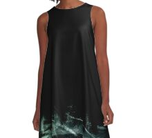 Natural Abstract 5 (Black and Subterranean variant) A-Line Dress