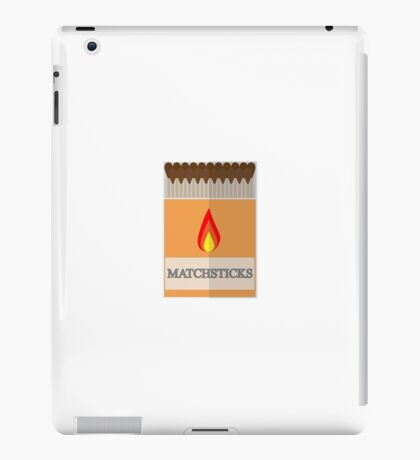 Box of matchsticks iPad Case/Skin