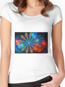 A Breath of Floral Women's Fitted Scoop T-Shirt