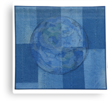 RECYCLED JEANS QUILT Canvas Print