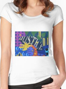 "Abstract N° 399 ""Justice"" Women's Fitted Scoop T-Shirt"