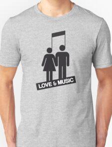Love and music Unisex T-Shirt