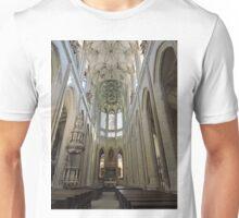 St Barbara's cathedral, Kutna Hora, aisle Unisex T-Shirt