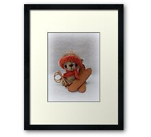 Handmade bear 'Henrik' Winter sports, ski bear Framed Print