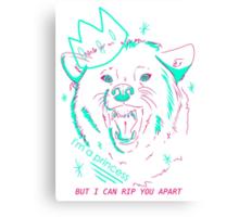 im a princess Canvas Print