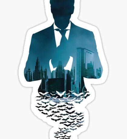 City man bats Sticker