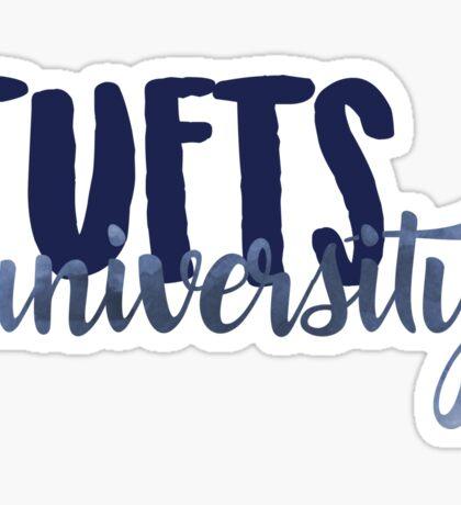 Tufts Brush Script Sticker