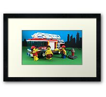 Waterfight Framed Print