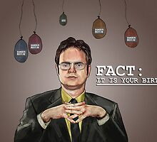 Fact: Dwight Says Happy Birthday! by EmptyWearStuff