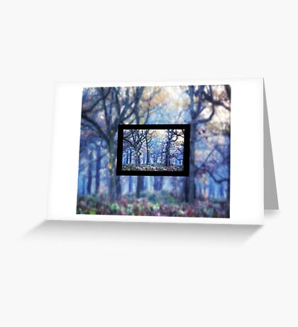 The Enchanted Forest Landscape with Single border Greeting Card