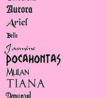 Disney Princess Names by teddib